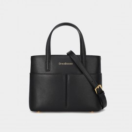 Dreabassa Small Black Structured Top Handle Bag (Dr-18067080)