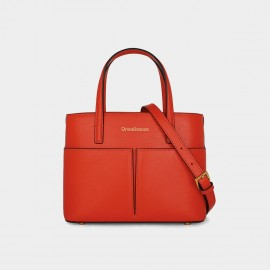 Dreabassa Small Red Structured Top Handle Bag (Dr-18067080)