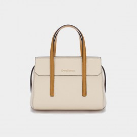 Dreabassa Cream Contrast Top Handle Bag (Dr-18067980)