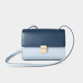 Dreabassa Dark and Light Blue Cross Body Shoulder Bag (Dr-1904D131A)