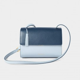 Dreabassa Dark and Light Blue Cross Body Shoulder Bag (Dr-1904D131B)
