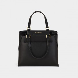 Dreabassa Smooth Leather Black Top Handle Bag (Dr-1906D134)