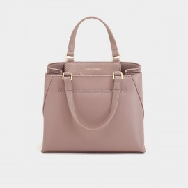 Dreabassa Smooth Leather Blush Pink Top Handle Bag (Dr-1906D134)