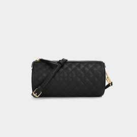 Dreabassa Criss Cross Quilted Black Shoulder Bag (Dr-1906D135)