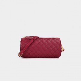 Dreabassa Criss Cross Quilted Red Shoulder Bag (Dr-1906D135)