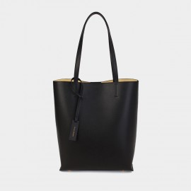 Dreabassa Minimalist Black Bucket Tote Bag (Dr-1907D137)