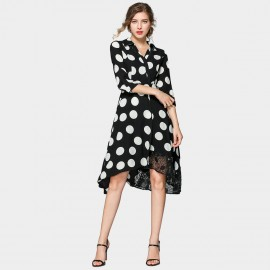ZOFS Large Black & White Polka Dot Dress (79017)