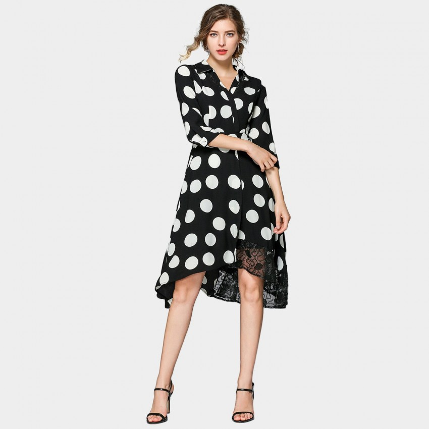 Buy ZOFS Large Black & White Polka Dot Dress online, shop ZOFS with free shipping