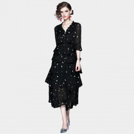 ZOFS Starry Night Black Layered Dress (79021)