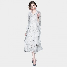 ZOFS Starry Night White Layered Dress (79021)