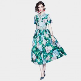 ZOFS Green Hydrangea Party Dress (79030)