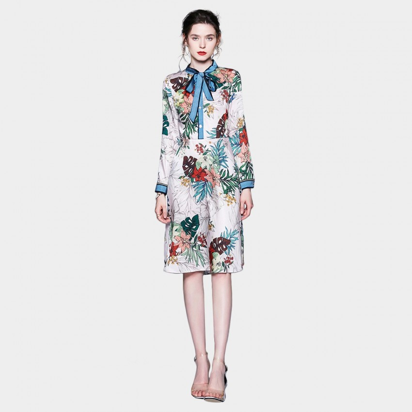 Buy ZOFS Monstera Leaf Floral Dress online, shop ZOFS with free shipping