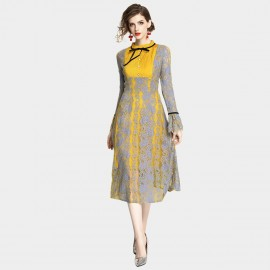 ZOFS Sunshine Yellow Lace Dress (89055)