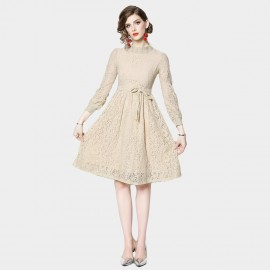 ZOFS Romance is Born Apricot Lace Dress (89099)