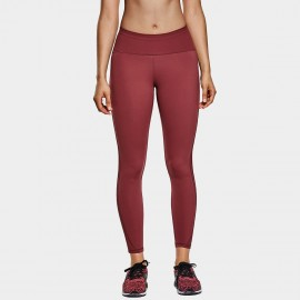 CRZ Yoga High Waisted Mesh Panel Maroon Leggings (R420)