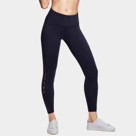 CRZ Yoga Cut Out Navy Full Length Leggings (R422)