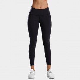 CRZ Yoga Sleek High Waisted Black Sports Leggings (R424)