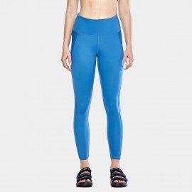 CRZ Yoga Sleek High Waisted Blue Sports Leggings (R424)