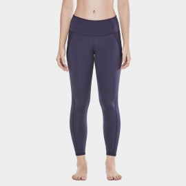 CRZ Yoga Sleek High Waisted Navy Sports Leggings (R424)