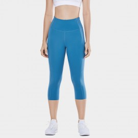 CRZ Yoga Crop Blue Leggings (R432)
