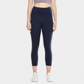 CRZ Yoga Crop Navy Leggings (R432)