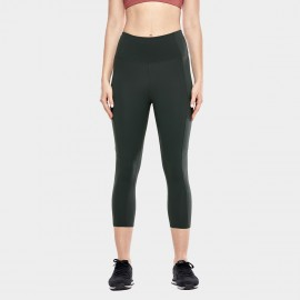 CRZ Yoga Crop Olive Leggings (R432)