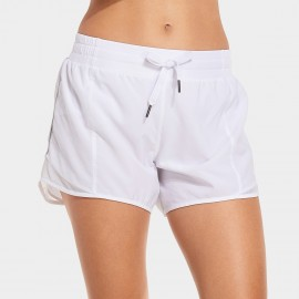 CRZ Yoga Marathon White Running Shorts (R404)