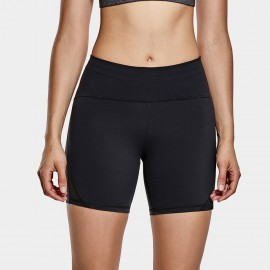 CRZ Yoga High Waisted Black Bike Shorts (R416)