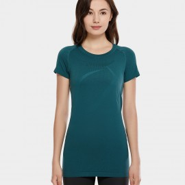 CRZ Yoga Round Neck Green Training Tee (R213)