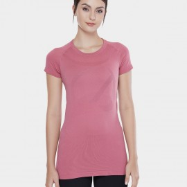 CRZ Yoga Round Neck Pink Training Tee (R213)