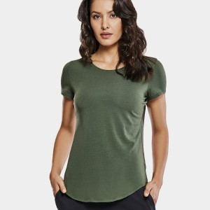 CRZ Yoga Basic Olive Active Tee (R748)