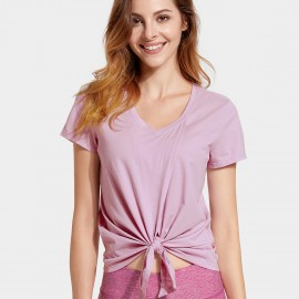 CRZ Yoga Knot Front Lilac Tee (R750)