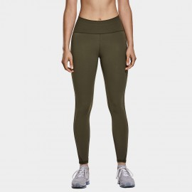 CRZ Yoga High Waisted Mesh Panel Olive Leggings (R420)