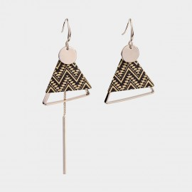 Caromay Modern Artwork Gold Earrings (E4784-3)