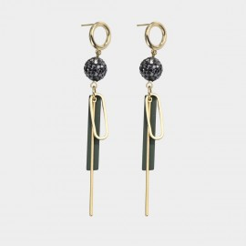 Caromay Sharp Sharp Green Earrings (E4888)