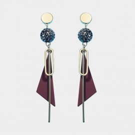 Caromay Char Maroon Earrings (E4890)