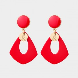 Caromay Number 5 Red Earings (E5209)