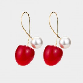 Caromay Sweet Cherry Red Earrings (E5281)