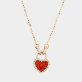 Caromay Blooming Heart Red Necklace (X1830)