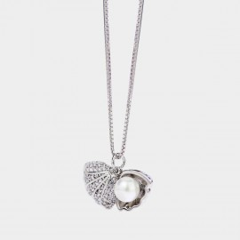 Caromay Shell Jewelry Box Silver Necklace (X1904)