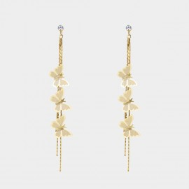 Caromay Butterflies In Line Champagne Gold Earrings (E4250)