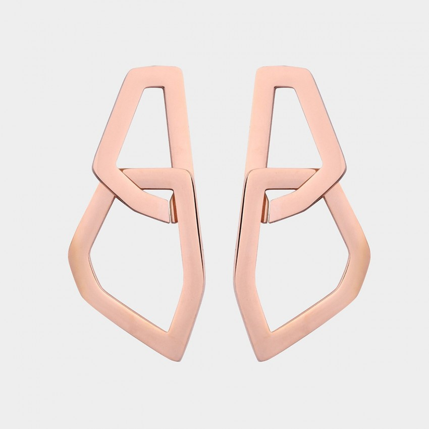 Caromay Outspace Gate Rose Gold Earring (E4549)