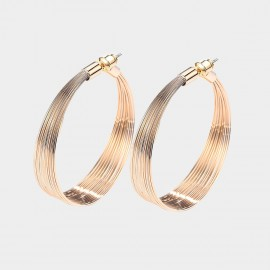 Caromay Light Beam Champagne Gold Earrings (E5217)