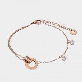 Caromay Roman Digitals Rose Gold Bracelet (H0625)