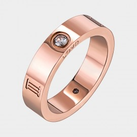 Caromay Roman Mark Rose Gold Ring (J0488-2)