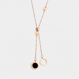 Caromay Separate Time Rose Gold Necklace (X2115)