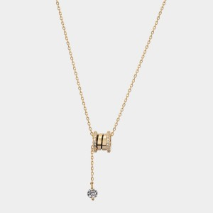 Caromay Prayer Wheel Champagne Gold Necklace (X2470)