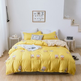 AIX Little Piggies Yellow Duvet Cover Set (A1907019)
