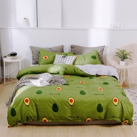 AIX Avocado Print Green Duvet Cover Set (A1907020)