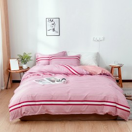 AIX Stripey Pink Duvey Cover Set (A1907022)